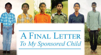 A Final Letter to my Sponsored Child