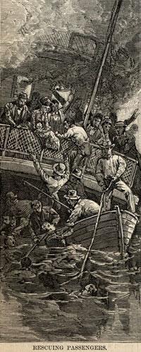 Rescuing Passengers Seawanhaka Disaster